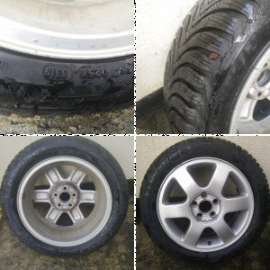 """Audi 8L0601025F 15"""" wheels, with Alpin Winter tyres"""