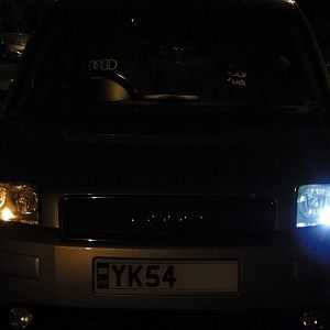 old sidelight and new LED sidelight